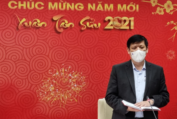 Bộ trưởng Bộ Y tế Nguyễn Thanh Long phát biểu tại cuộc họp sáng nay 19/2. Ảnh: PV