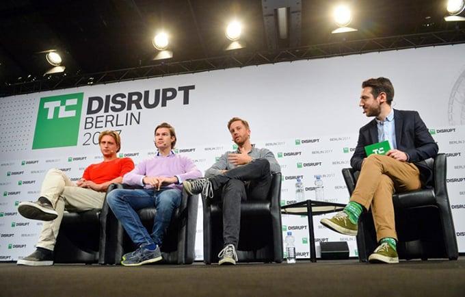 Những phú gia fintech mới, Nikolay Storonsky, Valetin Stalf và Monzo Tom. Ảnh: Getty Images.