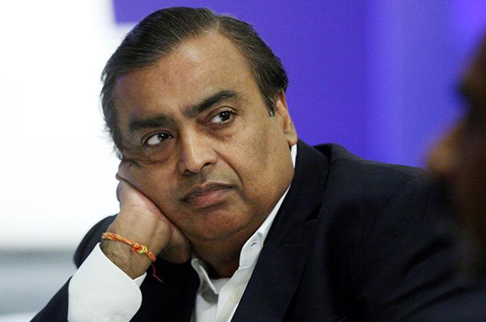 Tỷ phú Mukesh Ambani, Chủ tịch kiêm Giám đốc quản lý của Reliance Industries, công ty tư nhân lớn nhất Ấn Độ. Ảnh: AFP