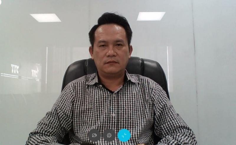 Ông Đặng Hồng Anh- Phó chủ tịch Hội Liên hiệp Thanh niên Việt Nam, Chủ tịch Hội Doanh nhân trẻ Việt Nam tham dự và đóng góp ý kiến trong phiên họp. Ảnh: DNT.