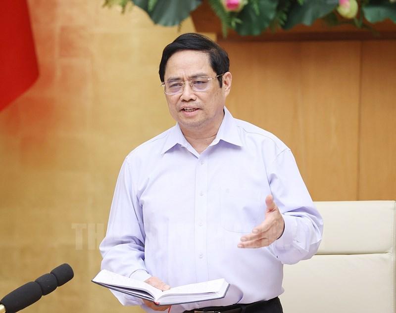 Thủ tướng Phạm Minh Chính tại cuộc họp. Ảnh: T.L