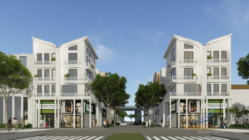 Marine City có quy mô 28,3 ha với hơn 1000 căn biệt thự, nhà phố, căn hộ và trung tâm thương mại