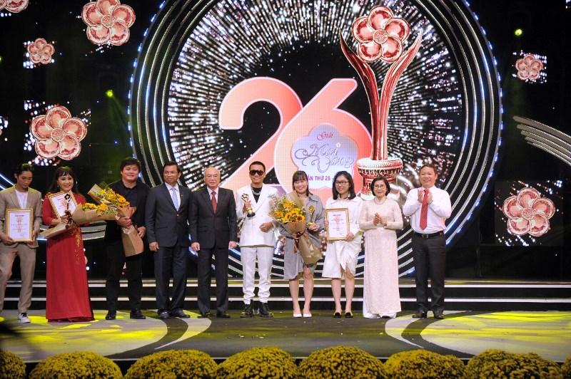 Các nghệ sĩ được trao giải Mai Vàng lần thứ 26. Ảnh: TL
