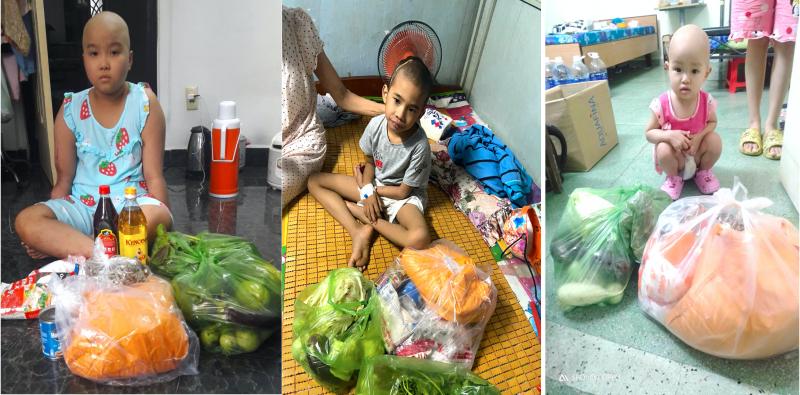 """Túi an sinh từ Bình Phước góp phần san sẻ khó khăn với các hộ dân tại Quận Bình Thạnh đang vừa """"gồng mình"""" chặn dịch, vừa """"oằn lưng"""" lo cho trẻ nhỏ đáng thương mắc căn bệnh ung thư quái ác."""