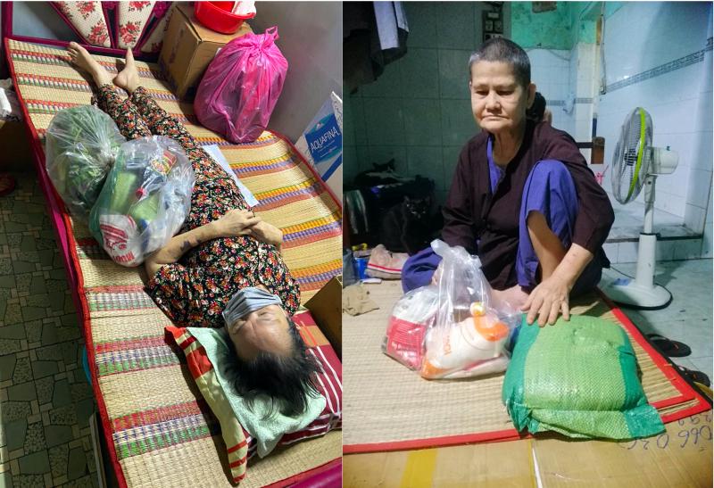 Túi an sinh từ người dân Bình Phước đã đến với những gia đình có người lớn tuổi mắc bệnh ung thư đang điều trị tại nhà ở quận Bình Thạnh.