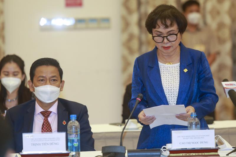 Bà Cao Thị Ngọc Dung - Chủ tịch Hội Nữ doanh nhân TP.HCM, Chủ tịch PNJ bày tỏ niềm tin với bức tranh kinh tế Việt Nam sau đại dịch.