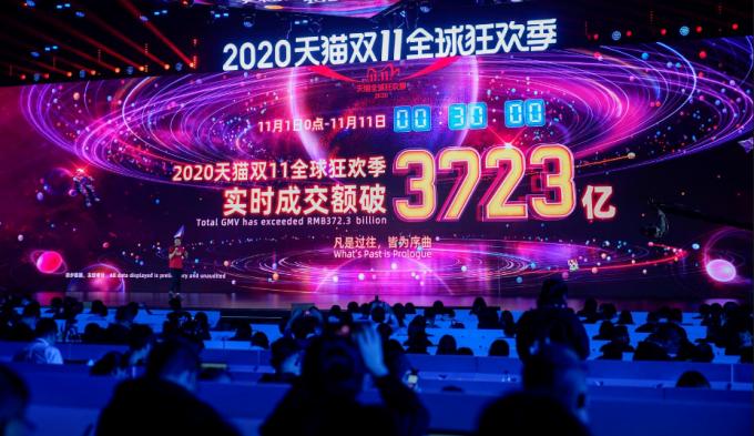 Alibaba khởi động ngày mua sắm Singles' Day. Ảnh: Reuters